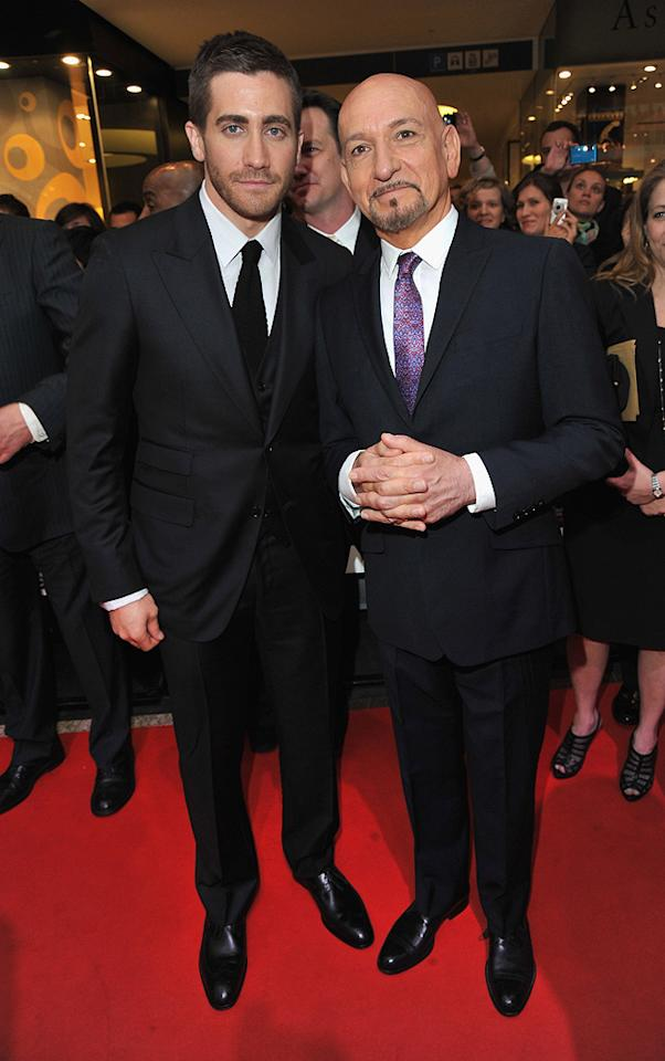 """<a href=""""http://movies.yahoo.com/movie/contributor/1800019221"""">Jake Gyllenhaal</a> and <a href=""""http://movies.yahoo.com/movie/contributor/1800026534"""">Ben Kingsley</a> at the London premiere of <a href=""""http://movies.yahoo.com/movie/1810041991/info"""">Prince of Persia: The Sands of Time</a> - 05/09/2010"""