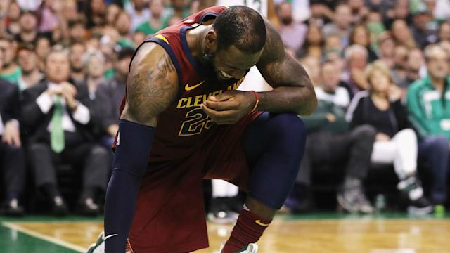 LeBron James insisted he is not concerned following the Cleveland Cavaliers' 107-94 game-two defeat at the Boston Celtics on Tuesday.