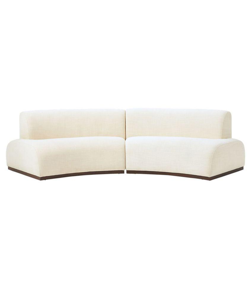 We're getting major '80s vibes from this two-piece sofa set.