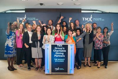 TMX Group's Charitable Giving Partners Close the Market (CNW Group/TMX Group Limited)