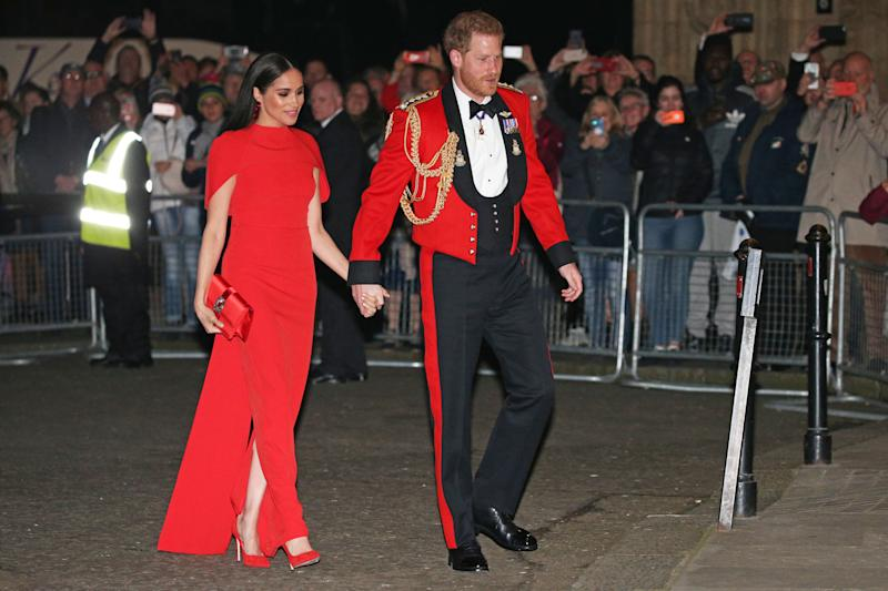 Prince Harry and Meghan Markle arrive at the Royal Albert Hall in London