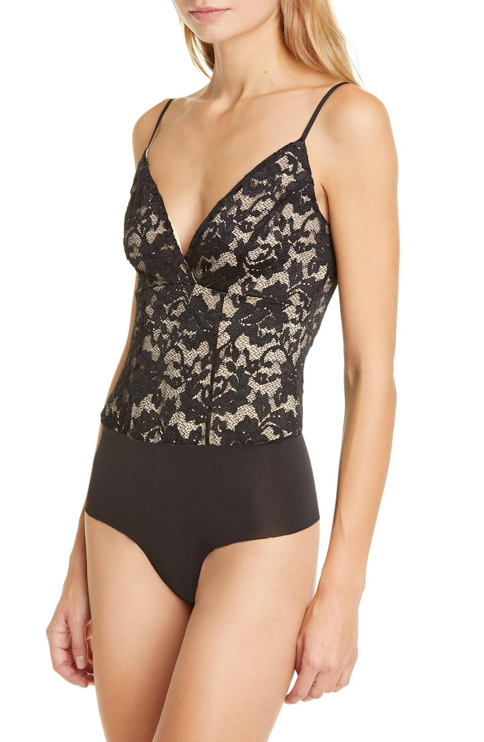 <p>Slip this <span>L'Agence Laurette Lace Bodysuit</span> ($27, originally $175) under a blazer and tuck it into your favorite jeans for a sultry look.</p>