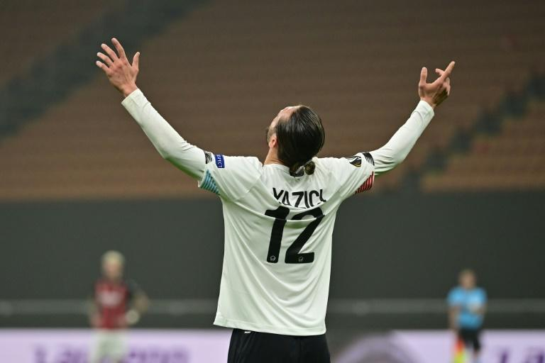 Yazici Yusuf has scored six goals in three Europa matches following his second hat-trick of the continental campaign