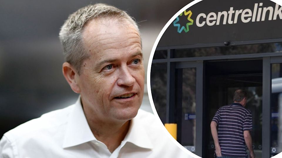 Bill Shorten announces class action into robodebt. Source: Getty