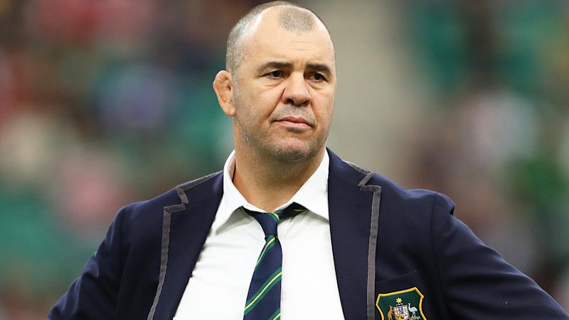 Michael Cheika has stepped down as coach of the Wallabies, as he said he would if Australia did not win the Rugby World Cup. (Photo by Dan Mullan/Getty Images,)