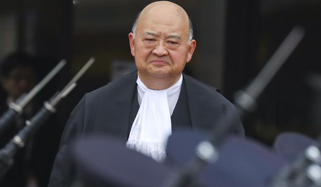 Chief Justice Geoffrey Ma attends the ceremonial opening of the legal year 2020 at City Hall in Central on January 13. Photo: Sam Tsang