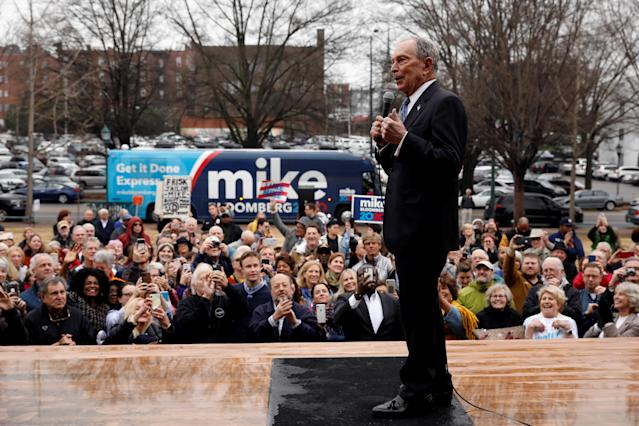 Michael Bloomberg campaigning in Chattanooga, Tenn., on Wednesday. (Doug Strickland/Reuters)