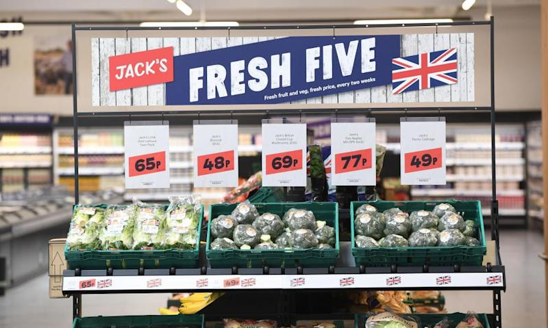 Low-cost vegetables on display at Jack's in Chatteris.