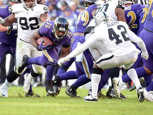Gus Edwards and the Baltimore Ravens are pushing hard for the AFC North title