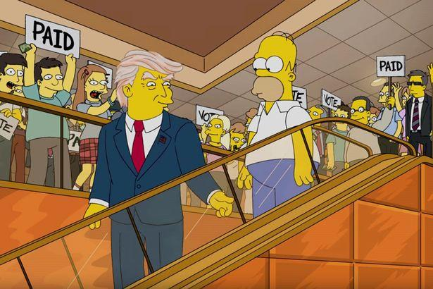 The Simpsons mock their President Trump prediction following last week's election