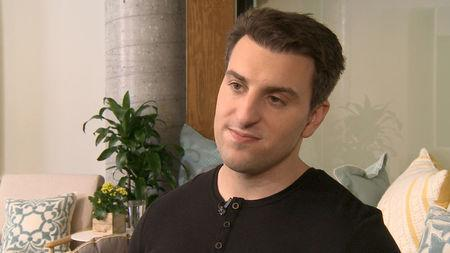 Airbnb CEO and Co-founder Brian Chesky is pictured at Airbnb headquarters in San Francisco