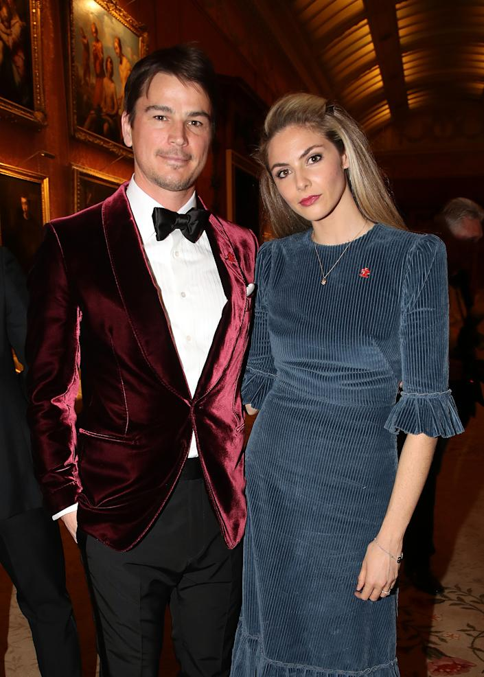 Josh Hartnett and Tamsin Egerton attend a dinner to celebrate The Prince's Trust, hosted by Prince Charles, Prince of Wales at Buckingham Palace on March 12, 2019 in London, England. (Photo by Chris Jackson - WPA Pool/Getty Images)