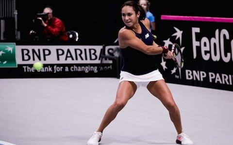 Great Britain's women can start praying for the one thing none of them has ever experienced – a home Fed Cup tie – after they overcame Hungary on Saturday in the last match of their Tallinn zonal qualifiers. Johanna Konta scored the decisive win, a straightforward 6-3, 6-1 outclassing of 19-year-old Fanny Stollar. But Heather Watson arguably had the tougher task against another 19-year-old, Dalma Galfi, in the first match of the tie. Galfi has been close to the world's top 100 and put up a strenuous fight before losing in three sets: 3-6, 6-1, 6-4. Frustratingly for Hungary, Watson finished her win with a flukey bounce off the net cord that turned a regulation backhand into an unreturnable winner. The result improved her Fed Cup record to 20 singles wins from 27 matches – a percentage that even Virginia Wade, Britain's most successful Fed Cupper, would admire. Konta's victory maintained a 100 per cent record for Great Britain this week: eight wins from eight rubbers. Admittedly not all their rivals could muster their best players. For instance, Friday's opponents Estonia declined to pick Kaia Kanepi, the big-hitting former Wimbledon quarter-finalist, after Kanepi demanded an€100,000 (£88,000) appearance fee. Yet the results show that Great Britain were the outstanding side in this competition. Even Latvia, with reigning French Open champion Jelena Ostapenko to call on, lost two rubbers over the course of the week. On this form, Great Britain look more than worthy of a place in the World Group, but they still need another victory – this time in a five-rubber tie like the controversial one in Constanta last year. The home-or-away play-offs against members of World Group II will begin on April 22 , and we can only hope that the British captain Anne Keothavong does not find herself up against another opposite number as toxic as Ilie Nastase. Heather Watson beat Hungary's Dalma Galfi Credit: Getty Images AtTuesday's Fed Cup draw, we will discover whether Great Britain wi