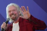 FILE PHOTO: Sir Richard Branson speaks at the unveiling of the Virgin Voyages ship in New York