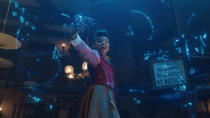 Netflix's big, colourful Christmas musical was a feast for the eyes and for the heart. The wholesome tale of a curmudgeonly inventor being reminded of his former glory by his precocious granddaughter has already won over many as a future festive classic. (Credit: Netflix)