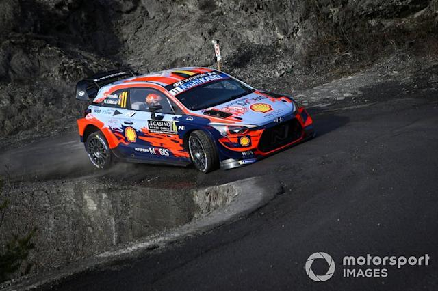 "Thierry Neuville, Nicolas Gilsoul, Hyundai Motorsport Hyundai i20 Coupe WRC <span class=""copyright"">McKlein / Motorsport Images</span>"