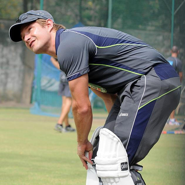 NEW DELHI, INDIA - MARCH 20: Australian cricketer Shane Watson during a practice session ahead of fourth test match against India in New Delhi. (Photo by Pankaj Nangia/India Today Group/Getty Images)