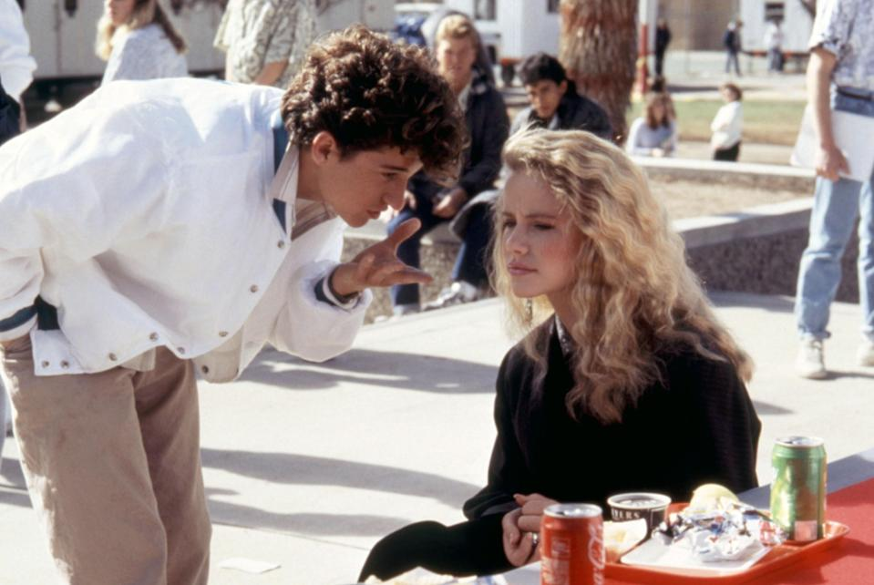 """<p>Long before he was McDreamy on <em>Grey's Anatomy,</em> Patrick Dempsey was a nerd named Ronald Miller who paid Cindy Mancini, the most popular girl in school, to pretend they were dating. </p> <p><em>Available to rent on</em> <a href=""""https://www.amazon.com/gp/video/detail/B00C0IYPRY/ref=atv_dl_rdr"""" rel=""""nofollow noopener"""" target=""""_blank"""" data-ylk=""""slk:Amazon Prime Video"""" class=""""link rapid-noclick-resp""""><em>Amazon Prime Video</em></a>.</p>"""