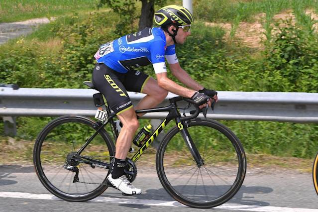"""<span class=""""element-image__caption"""">Simon Yates back in action on Saturday, albeit out of pink.</span> <span class=""""element-image__credit"""">Photograph: Tim de Waele/Getty Images</span>"""