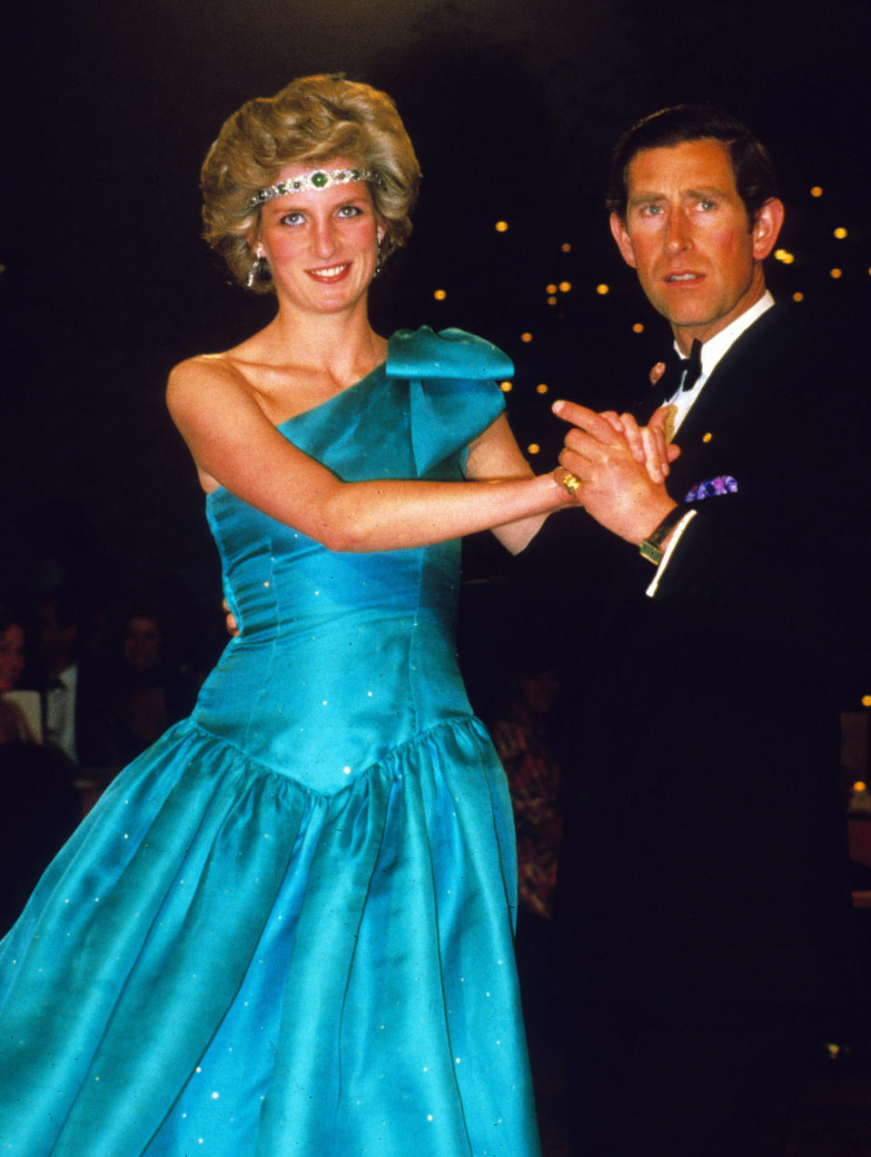 Diana wears Emanuel dress dancing in Australia in 1983  Anwar Hussein
