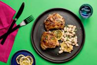 """The secret to this master recipe is all in the technique. Cook the thighs skin side down in a cast-iron skillet to render out the fat and make the skin as crisp as possible. <a href=""""https://www.epicurious.com/recipes/food/views/perfect-pan-roasted-chicken-thighs-365489?mbid=synd_yahoo_rss"""" rel=""""nofollow noopener"""" target=""""_blank"""" data-ylk=""""slk:See recipe."""" class=""""link rapid-noclick-resp"""">See recipe.</a>"""