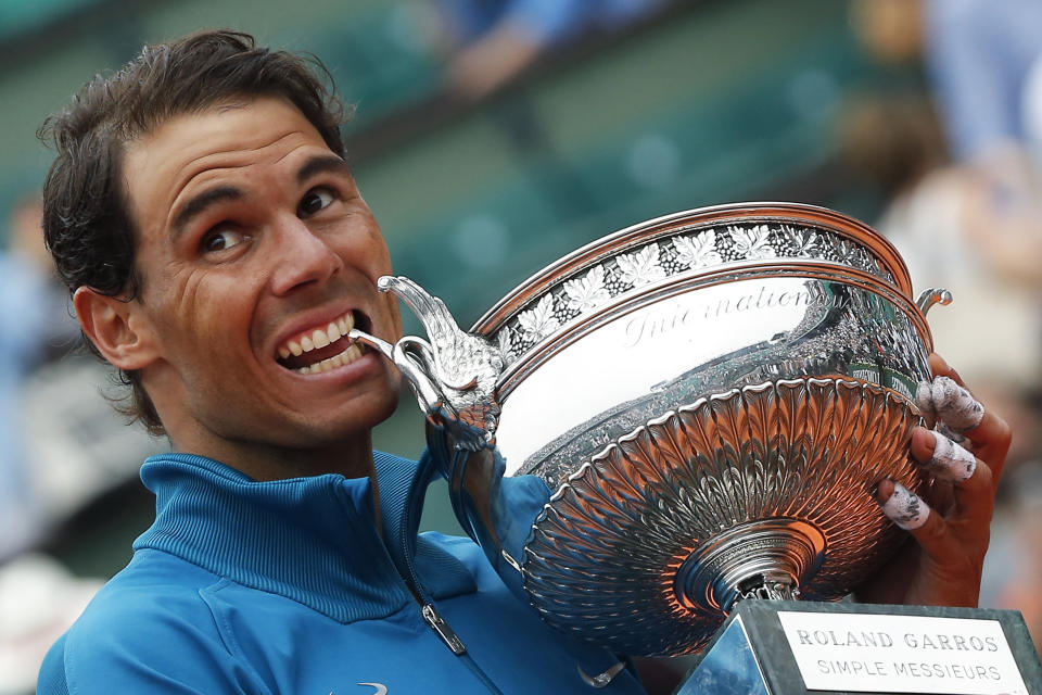 Rafael Nadal won his record 11th French Open title over the weekend. (AP)
