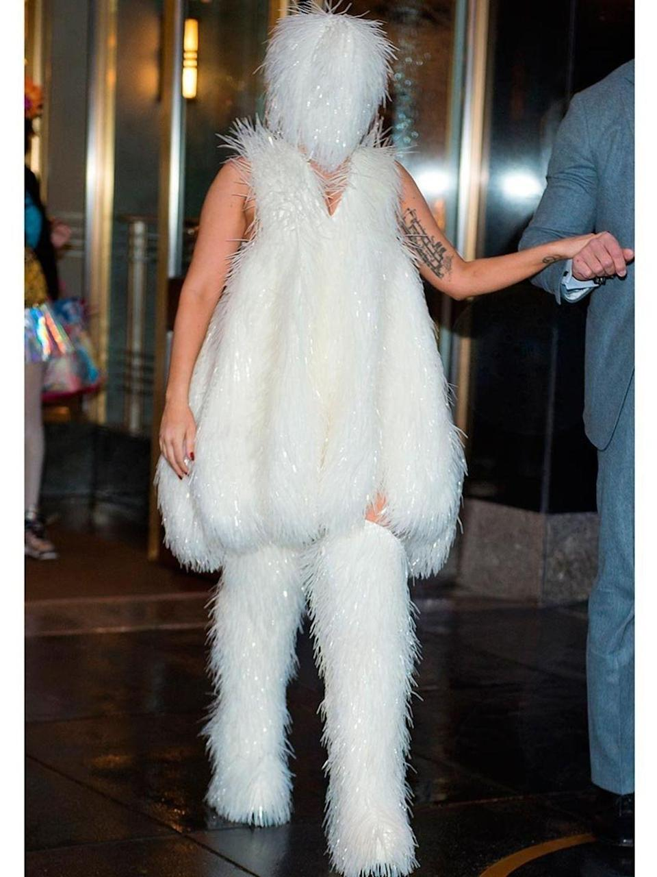 <p>Lady Gaga seen on the streets of Manhattan</p>
