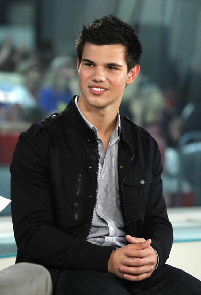 "TODAY -- Pictured: Taylor Lautner appears on NBC News' ""Today"" show -- Photo by: Peter Kramer/NBC NewsWire"