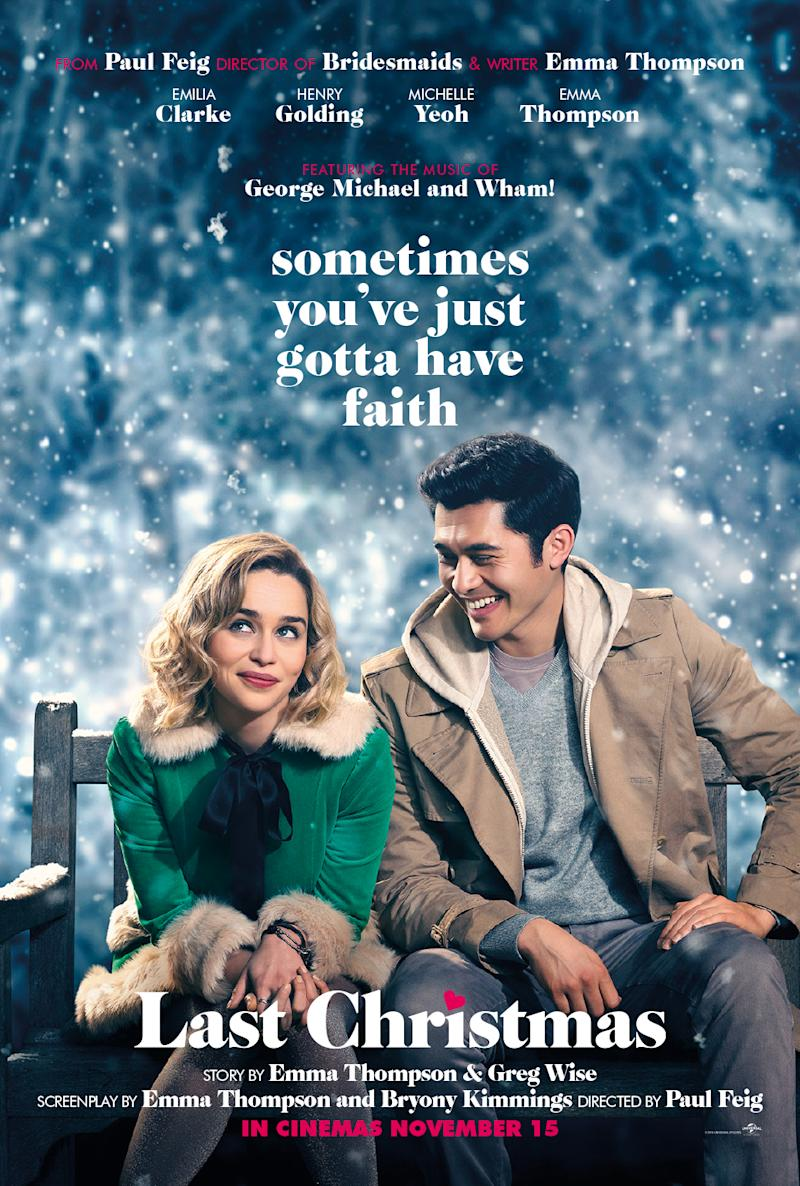 Last Christmas main UK poster (Universal)