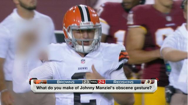 Johnny Manziel fined $12K for obscene hand gesture on Monday Night Football