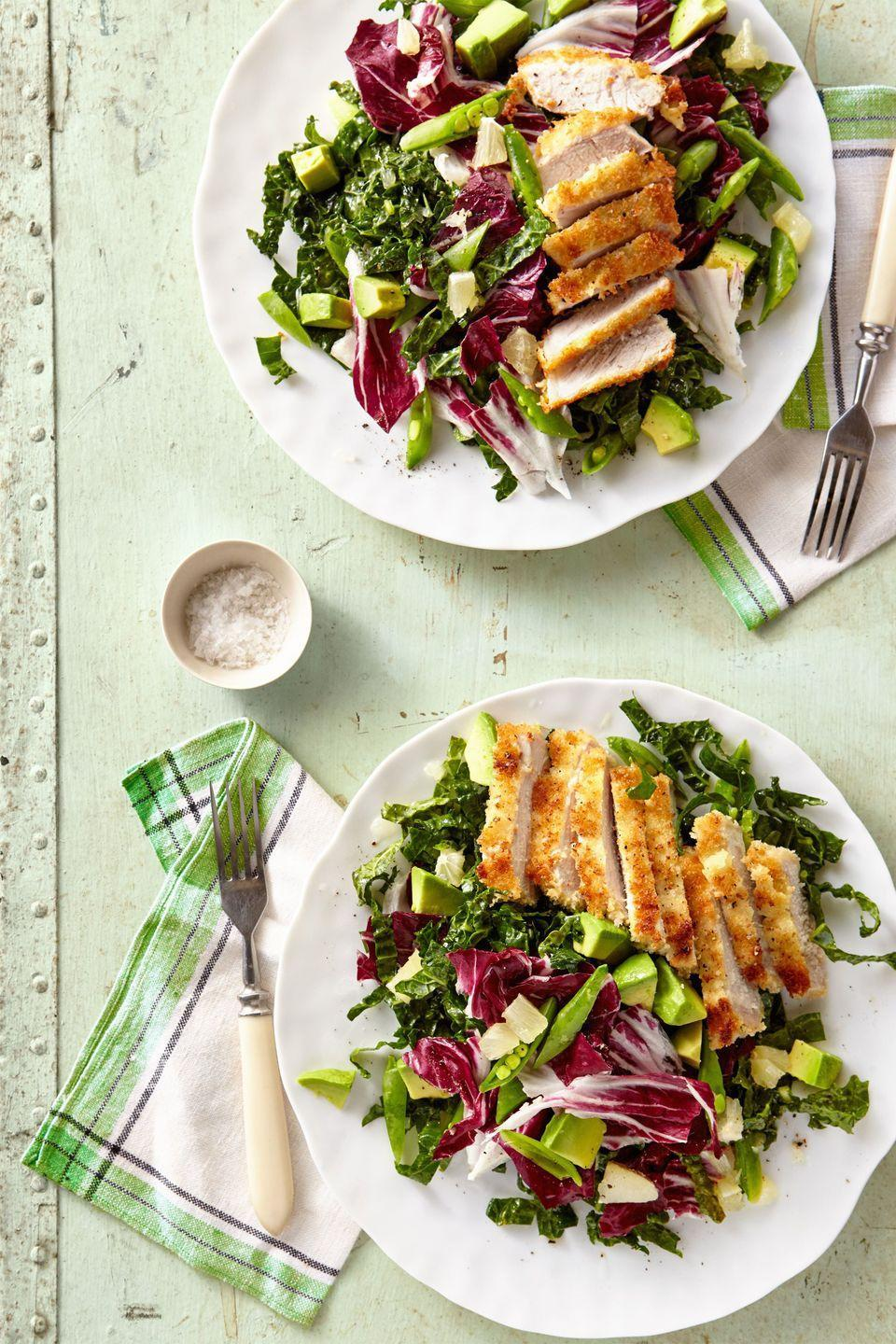 "<p>Pairing juicy port cutlet with an avocado kale salad is the ultimate spring dinner.</p><p><strong><a href=""https://www.countryliving.com/food-drinks/recipes/a37760/breaded-pork-cutlet-with-avocado-and-shredded-kale-salad-recipe/"" rel=""nofollow noopener"" target=""_blank"" data-ylk=""slk:Get the recipe."" class=""link rapid-noclick-resp"">Get the recipe.</a></strong></p><p><a class=""link rapid-noclick-resp"" href=""https://www.amazon.com/Pyrex-Prepware-3-Piece-Glass-Mixing/dp/B00LGLHUA0?tag=syn-yahoo-20&ascsubtag=%5Bartid%7C10050.g.648%5Bsrc%7Cyahoo-us"" rel=""nofollow noopener"" target=""_blank"" data-ylk=""slk:SHOP MIXING BOWLS"">SHOP MIXING BOWLS</a></p>"