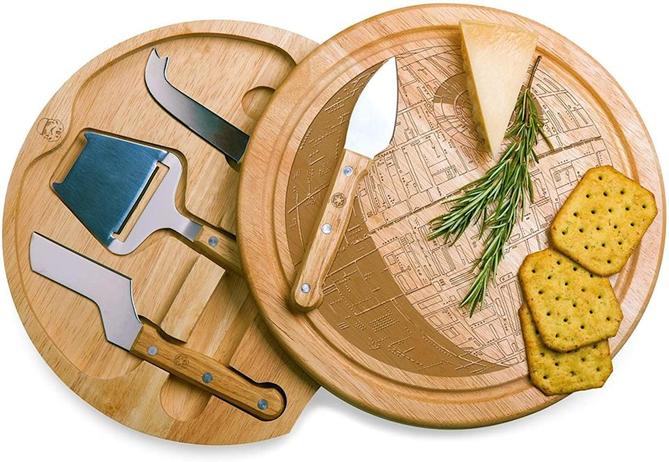 <p>You can never have enough cheeseboards, and the <span>Lucas Star Wars/Death Star Circo Cheese Set with Cheese Tools</span> ($44) is perfect for <strong>Star Wars</strong> fans.</p>