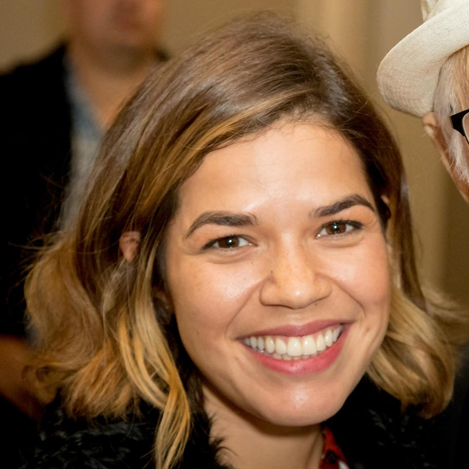 <p>When getting ready to attend the premiere of Netflix's <em>One Day At A Time</em>, America Ferrera decided to go sans cosmetics.</p>