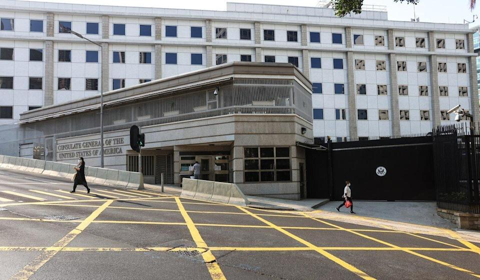 The consulate general of the United States in Hong Kong in Central. Photo: Nora Tam