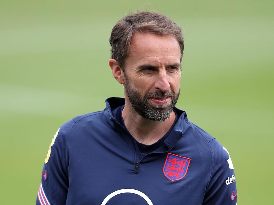 The England manager, Gareth Southgate, is preparing for the opening match against Croatia (PA Wire)