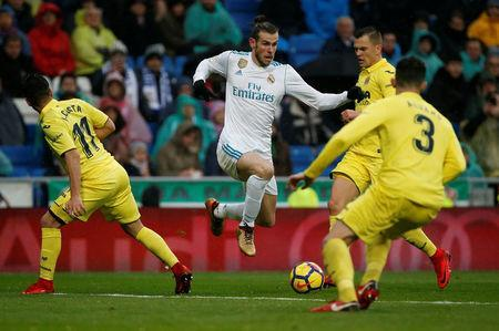 Soccer Football - La Liga Santander - Real Madrid vs Villarreal - Santiago Bernabeu, Madrid, Spain - January 13, 2018 Real Madrid's Gareth Bale in action REUTERS/Javier Barbancho