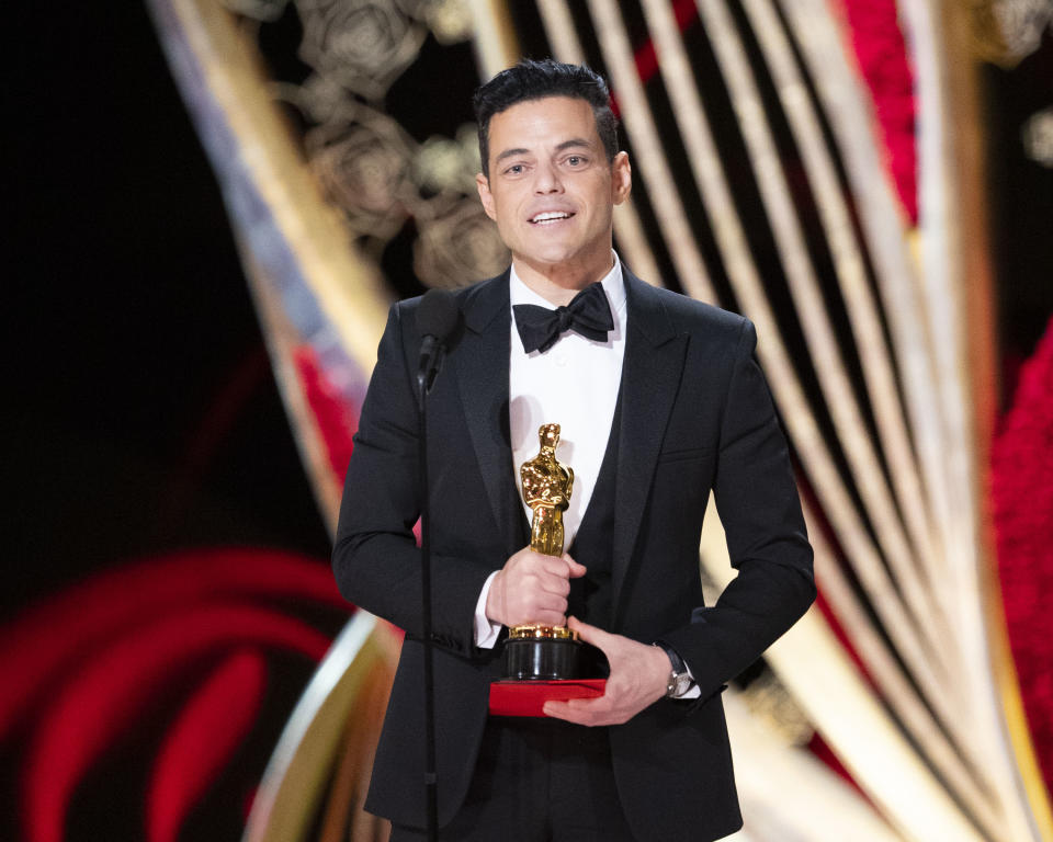 THE OSCARS® – The 91st Oscars® broadcasts live on Sunday, Feb. 24, 2019, at the Dolby Theatre® at Hollywood & Highland Center® in Hollywood and will be televised live on The ABC Television Network at 8:00 p.m. EST/5:00 p.m. PST. (Craig Sjodin via Getty Images) RAMI MALEK