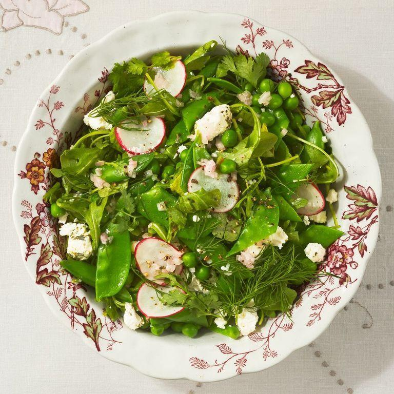 "<p>There's something so fun about a salad that uses the same ingredient three different ways. In addition to the peas, this colorful side is also packed with fresh herbs, creamy goat cheese, and thinly-sliced radishes.</p><p><strong><a href=""https://www.thepioneerwoman.com/food-cooking/recipes/a35903489/arugula-and-three-pea-salad-recipe/"" rel=""nofollow noopener"" target=""_blank"" data-ylk=""slk:Get the recipe"" class=""link rapid-noclick-resp"">Get the recipe</a>.</strong></p><p><a class=""link rapid-noclick-resp"" href=""https://go.redirectingat.com?id=74968X1596630&url=https%3A%2F%2Fwww.walmart.com%2Fbrowse%2Fhome%2Fthe-pioneer-woman-dishes%2F4044_623679_639999_7373615&sref=https%3A%2F%2Fwww.thepioneerwoman.com%2Ffood-cooking%2Fmeals-menus%2Fg35589850%2Fmothers-day-dinner-ideas%2F"" rel=""nofollow noopener"" target=""_blank"" data-ylk=""slk:SHOP BOWLS"">SHOP BOWLS</a></p>"