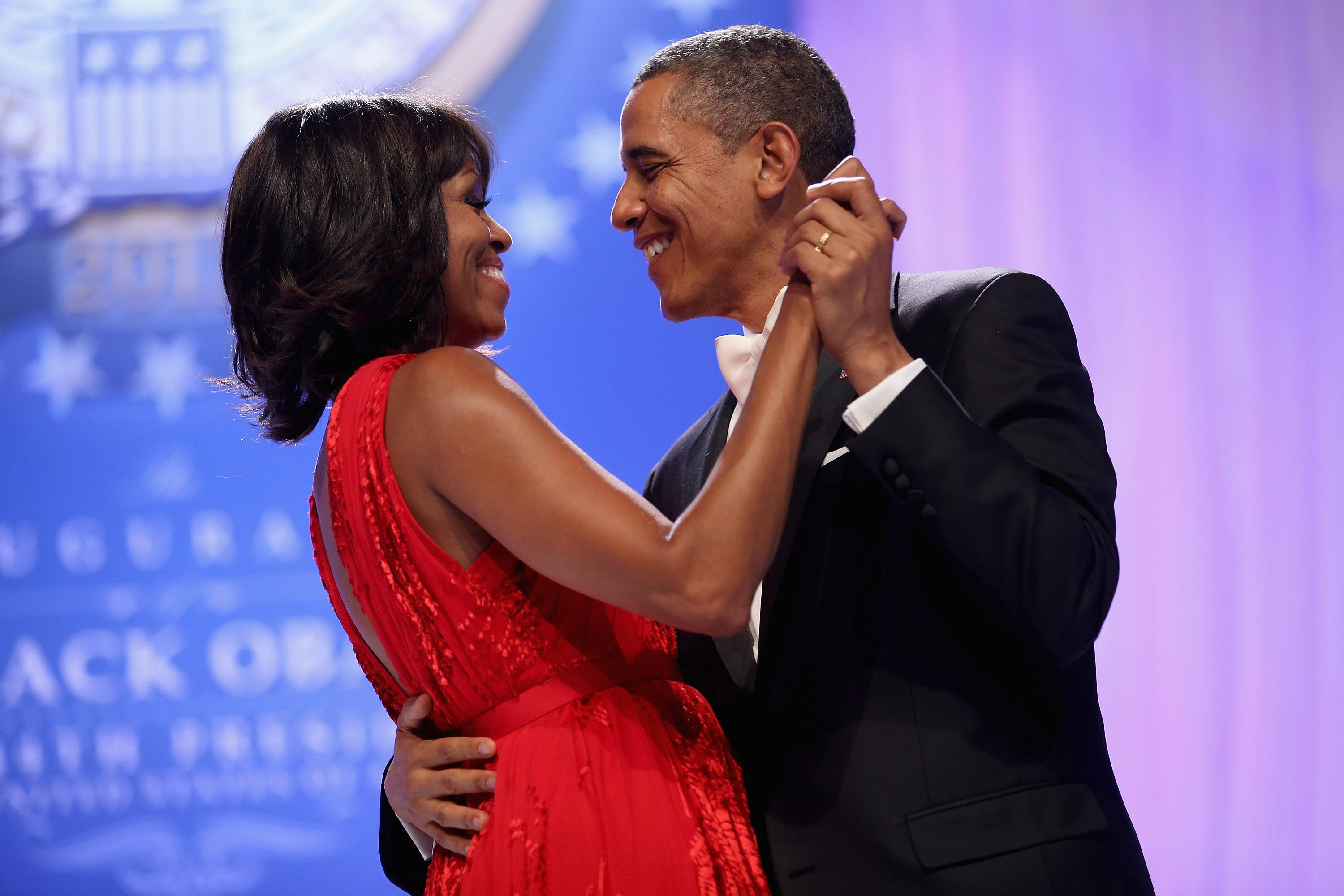 Then-president Barack Obama dances with Michelle Obama during the Western Inaugural Ball in 2013 in Washington, DC. [Photo: Getty]