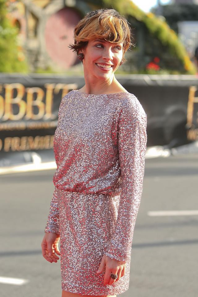 "WELLINGTON, NEW ZEALAND - NOVEMBER 28:  Evangeline Lilly arrives at the ""The Hobbit: An Unexpected Journey"" World Premiere at Embassy Theatre on November 28, 2012 in Wellington, New Zealand.  (Photo by Hagen Hopkins/Getty Images)"
