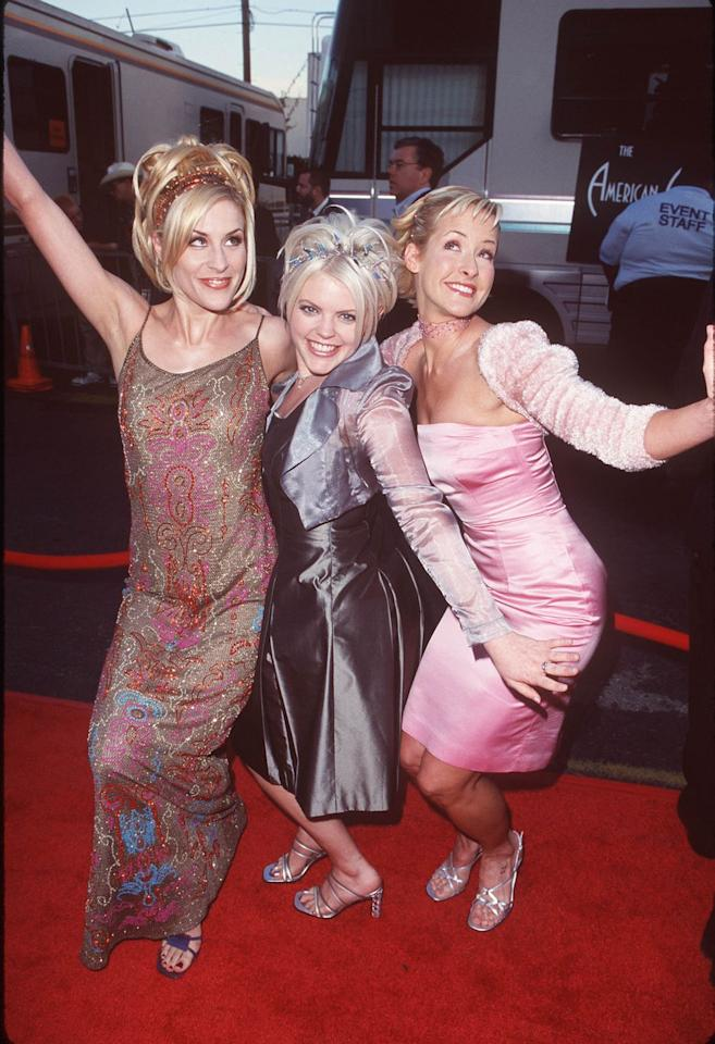 <p>Glitzy bling was almost as big for your hair as square toes were for shoes in the '90s. Here, the Dixie Chicks rock the style.</p>