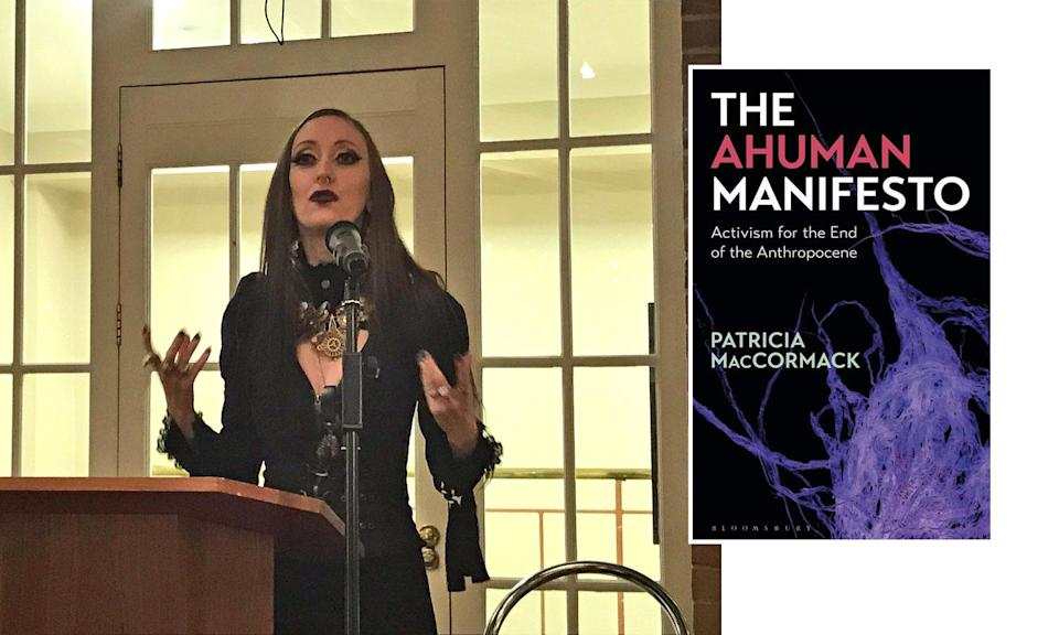 """Patricia MacCormack, a UK philosophy professor, has shaken up the climate-crisis discussion by suggesting, through her new book, """"The Ahuman Manifesto,"""" that humans stop reproducing. (Photo: ARU/Bloomsbury Academic)"""