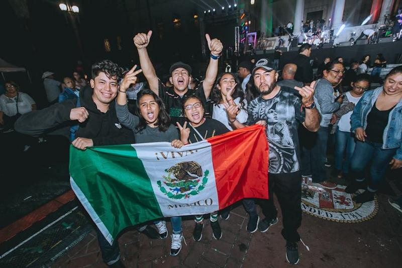 Attendees celebrate at El Grito 2018.