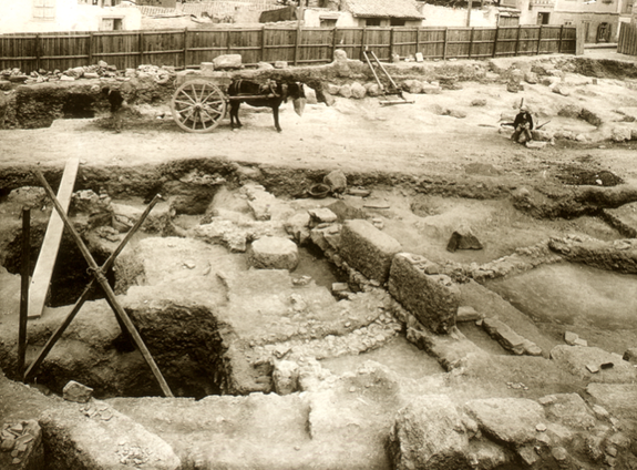 The deposit was first discovered in 1932 during excavations of the agora.