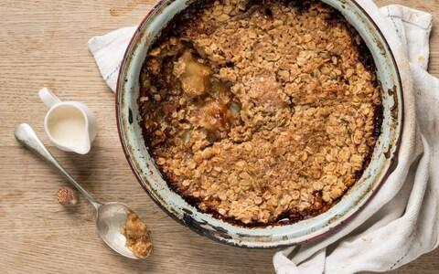 Apple crumble - Credit: ANDREW CROWLEY