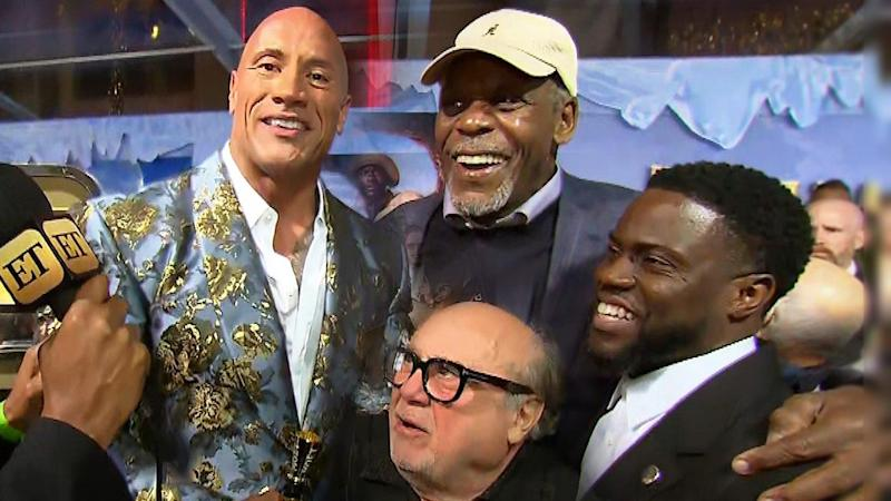 Dwayne Johnson Says He's 'So Proud' of Kevin Hart at 'Jumanji: The Next Level' Premiere (Exclusive)