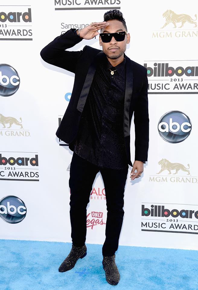 LAS VEGAS, NV - MAY 19:  Singer Miguel arrives at the 2013 Billboard Music Awards at the MGM Grand Garden Arena on May 19, 2013 in Las Vegas, Nevada.  (Photo by Kevin Mazur/WireImage)