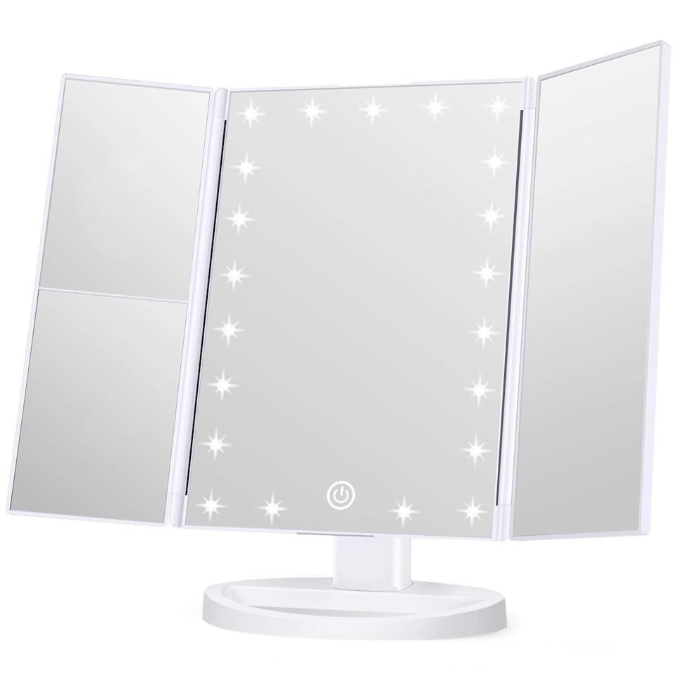 <p>The <span>Wondruz Makeup Mirror Vanity Mirror with Lights</span> ($30) has three types of magnification, touch control, and it's portable. If you're always on the go or don't have that much tabletop space, this mirror is a must.</p>