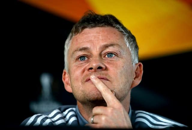 Ole Gunnar Solskjaer is looking to win his first title as Manchester United manager (Martin Rickett/PA)