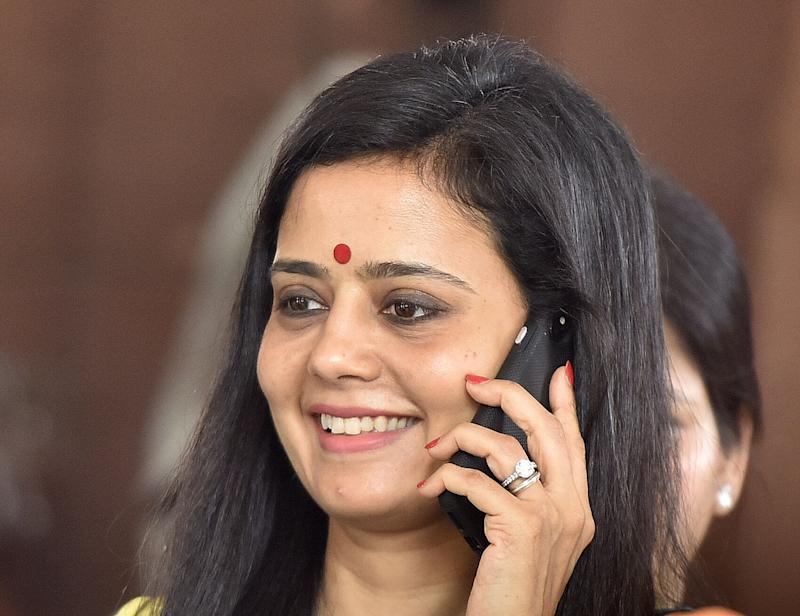 NEW DELHI, INDIA - JULY 8: TMC MP Mahua Moitra leaves after attending the Budget Session on July 8, 2019 in New Delhi, India. (Photo by Sonu Mehta/Hindustan Times via Getty Images)